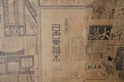2010-06-02_EOS 7D_1733、「古民家の板戸」、襖絵の下張、5