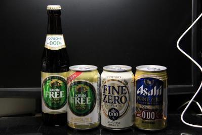 2010-07-02_EOS 7D_2699、キリン「フリー」、アサヒ「ポイント・ゼロ」、サントリー「ファイン・ゼロ」、ノンアルコール・ビール、