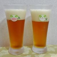キリンの生茶パンダ先生のグラスで 頂きます (*^_^*)