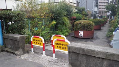 柳橋より先の暗渠道