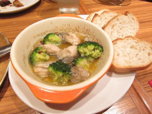 牡蠣のガーリックオイル煮