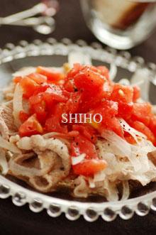フレッシュトマトドレッシングで食べる冷しゃぶ