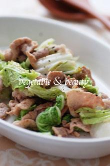 白菜と豚肉のさっと炒め