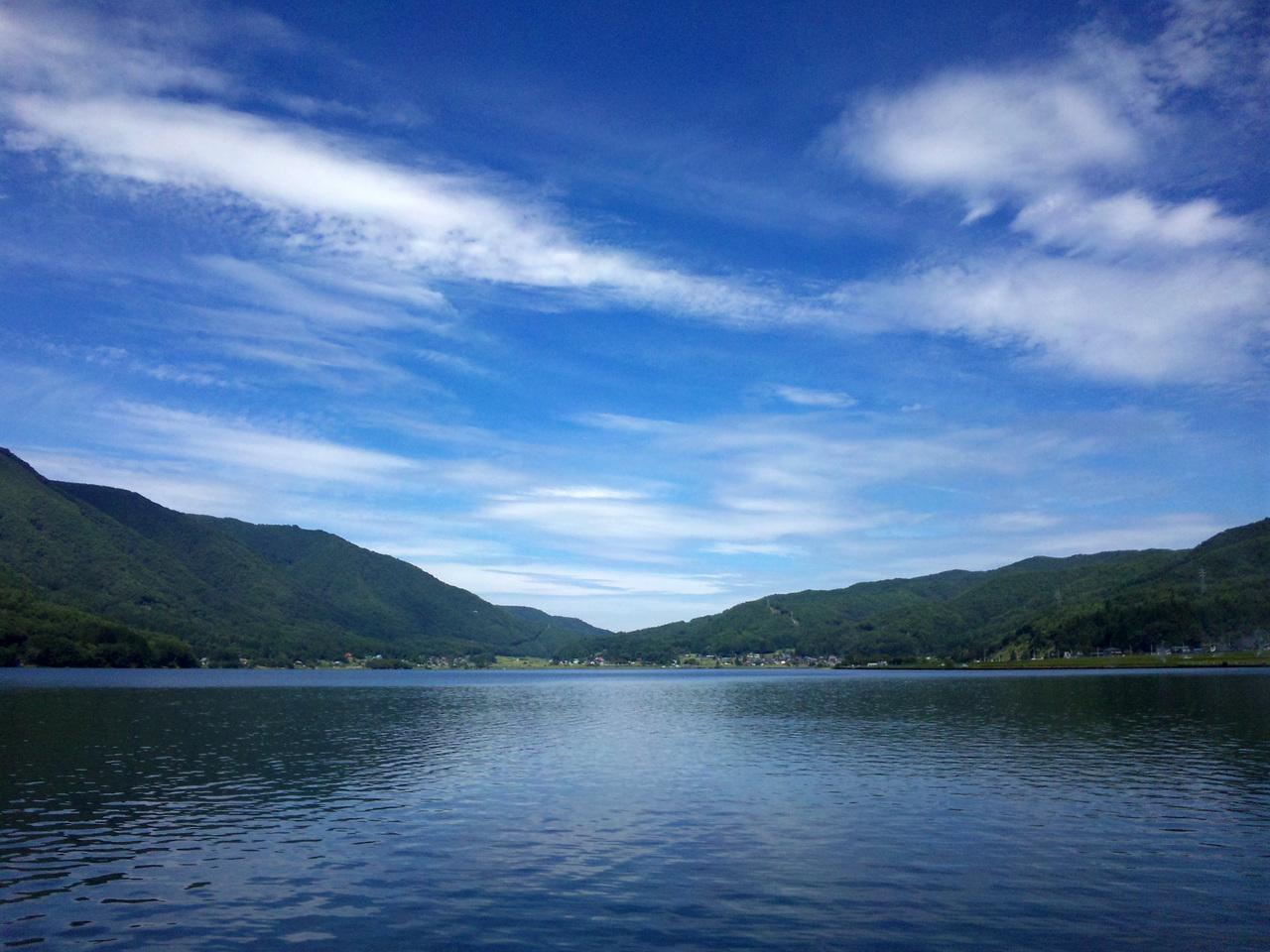 初秋の木崎湖