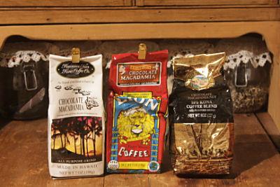 ハワイのチョコマカデミアフレーバーのコーヒー