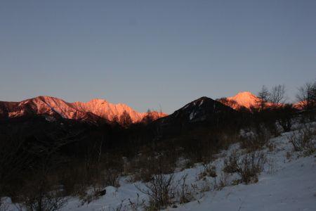 八ヶ岳のモルゲンローテ