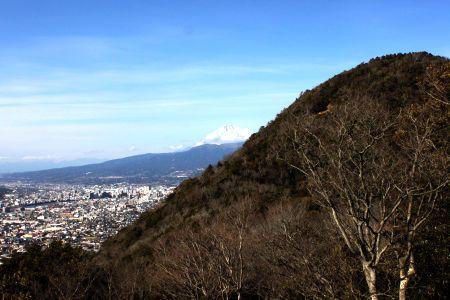 縦走路から富士山