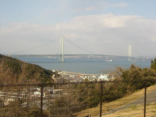 淡路サービスエリアから見る明石海峡大橋