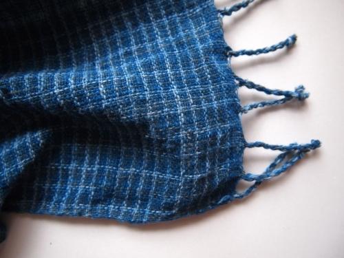 HPEエイチピーイーlaosラオス手織り手紡ぎ天然藍谷由起子民藝01