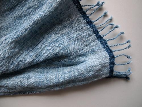 HPEエイチピーイーlaosラオス手織り手紡ぎ天然藍谷由起子民藝03