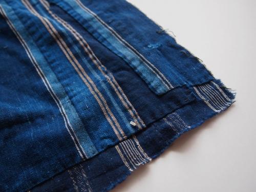 絣かすり天然藍染めボロ民藝古布インディゴindigo02
