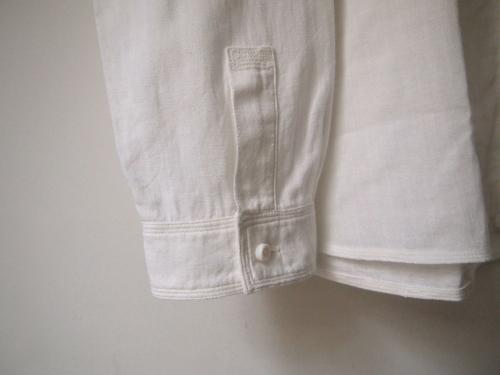 mittanミタンkhadiカディshirtsシャツ白white手織り手紡ぎ大阪通販02