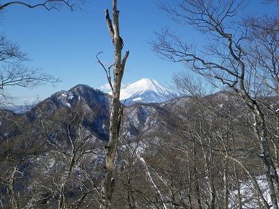 同角ノ頭と富士山