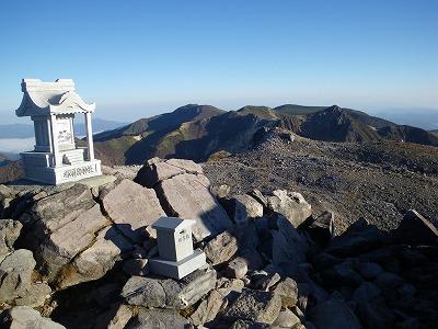 茶臼岳頂上