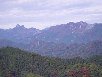 二子山と白石山