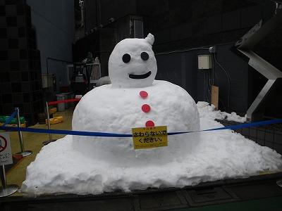 雪だるまin表参道