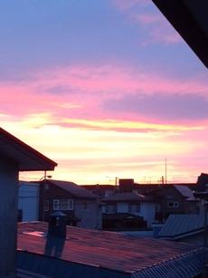 ピンク色のお空の季節♪