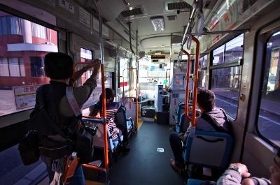 新宮町コミュニティバス車内