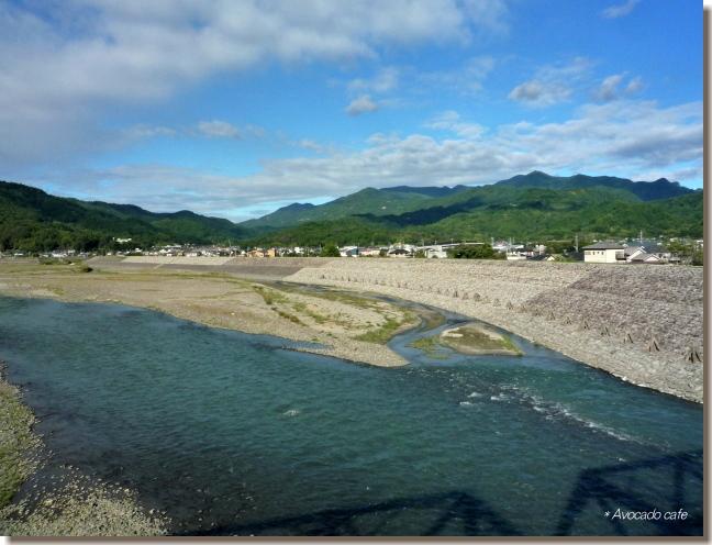 富士川橋の上から