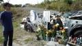 殉職された警察官が乗っていたパトカー