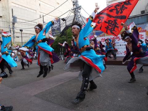 湘南よさこい祭り前夜祭 銀輪舞隊