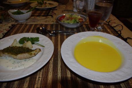 4スープと魚料理