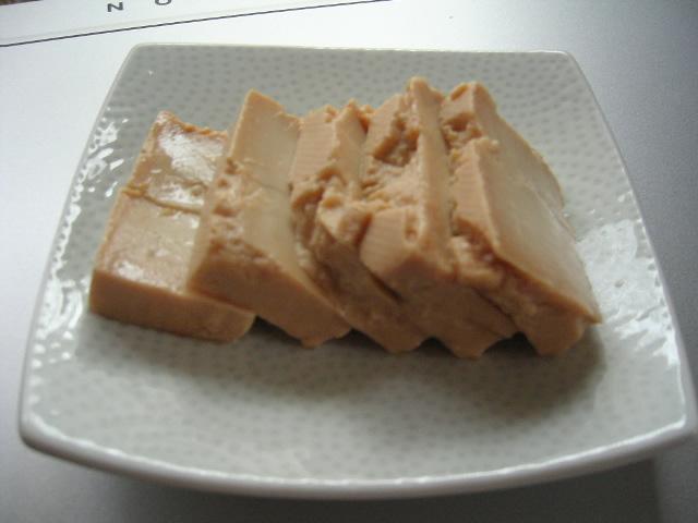 豆腐の味噌漬け。。
