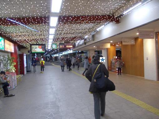 20141206_江ノ電鎌倉駅のイルミネーション