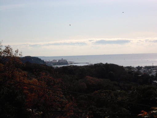 20141207_源氏山公園から海を望む