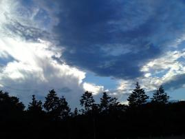 120915御所の夕空