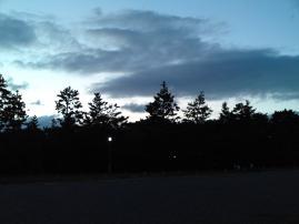 120916御所の夕空