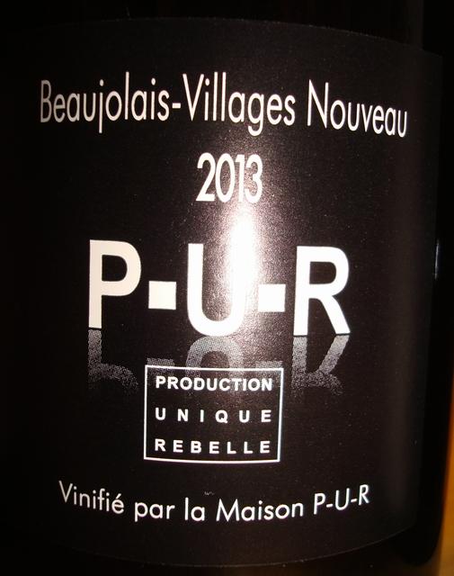 Beaujolais Villages Nouveau PUR Cyril Alonso 2013