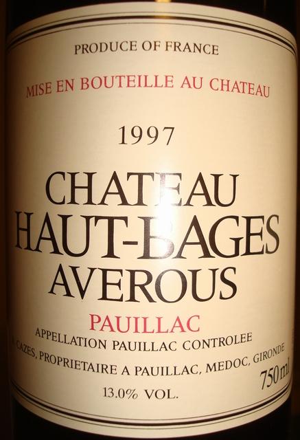Chateau Haut Bages Averous 1997