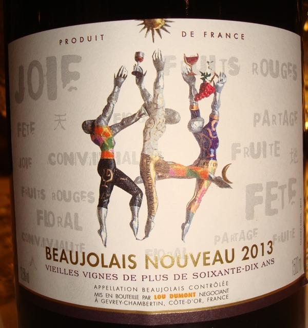 Beaujolais Nouveau Lou Dumont MG 2013