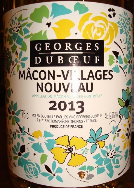 Macon Villages Nouveau Georges Duboeuf 2013