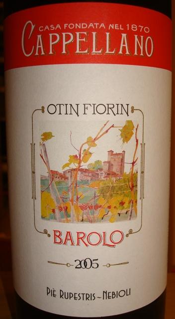 Barolo Cappellano Otin Fiorin Pie Rupestris Nebioli 2005
