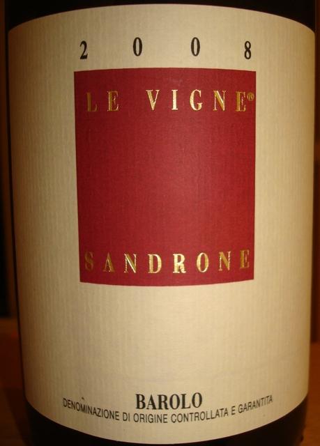 Barolo Le Vigne Sandrone 2008