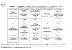 dcu 小学校 Timetable 1