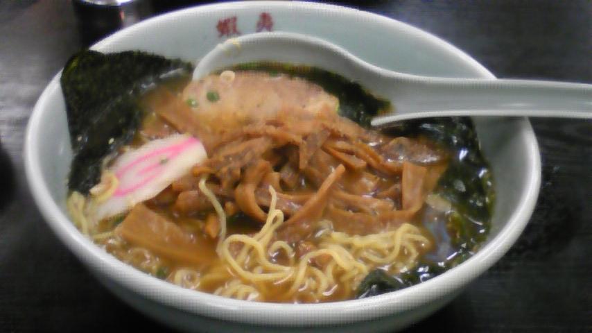 蝦夷醤油ラーメン100908