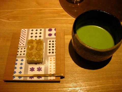 抹茶とお菓子1211