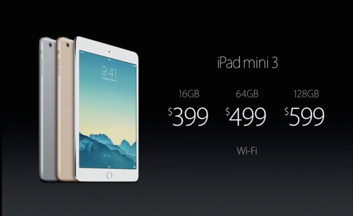 iPad mini 3は指紋認証に対応しただけなのにメチャ高いから気をつけろ!