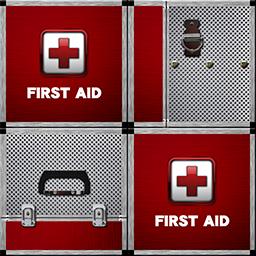 仙鶴的アルミ製救急箱(red)