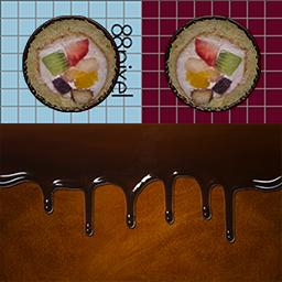 仙鶴的チョコ恵方巻き