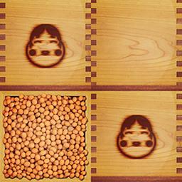 仙鶴的節分白木桝(おたふく)