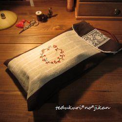 ワンポイント刺繍のミニBag 完成4