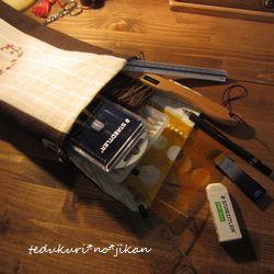 ワンポイント刺繍のミニBag 完成5
