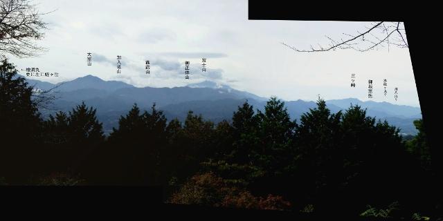 P1000822-3b明王峠南展望パノラマ中サイズ山名入り (640x320)