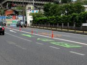 指示器点灯の道路標示