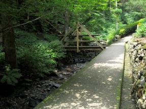 「二の滝」への道