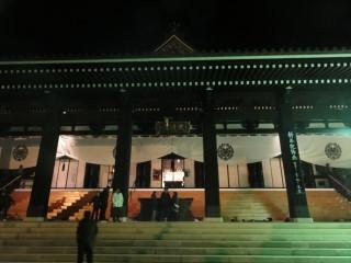 除夜の鐘 久遠寺 本堂